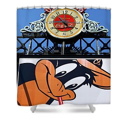 Thirsty Oriole Shower Curtain by James Brunker