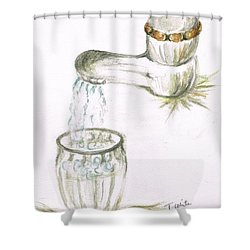 Shower Curtain featuring the painting Thirsty Of Water by Teresa White