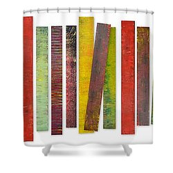Thirty Stripes 2.0 Shower Curtain by Michelle Calkins