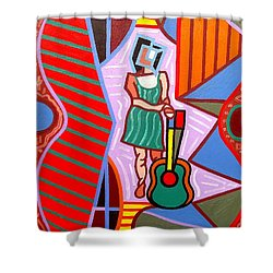 This Guitar Is More Than An Instrument Shower Curtain by Patrick J Murphy