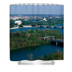 This Is An Aerial View Of Washington Shower Curtain by Panoramic Images