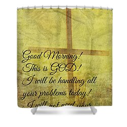 Shower Curtain featuring the digital art This Is God by Erika Weber