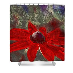 This Is Not Just Another Flower - Spr01 Shower Curtain by Variance Collections