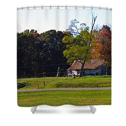 Shower Curtain featuring the photograph This Old House by Nick Kirby