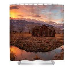 This Old House Shower Curtain by Tassanee Angiolillo