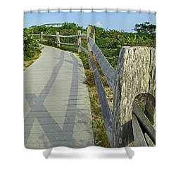 This Way To The Beach Shower Curtain by Barbara McDevitt