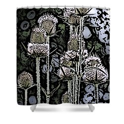 Shower Curtain featuring the digital art Thistle  by David Lane