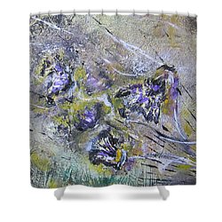 Thistles In The Mist Shower Curtain