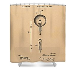 Thomas Edison Patent Application For The Light Bulb Shower Curtain by Movie Poster Prints