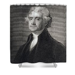 Thomas Jefferson Shower Curtain by Gilbert Stuart