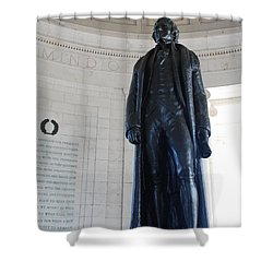 Thomas Jefferson Statue Shower Curtain