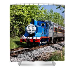 Thomas Visits The Cvnp Shower Curtain
