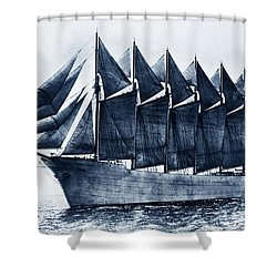 Thomas W. Lawson Seven-masted Schooner 1902 Shower Curtain