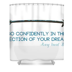 Thoreau Arrow Shower Curtain