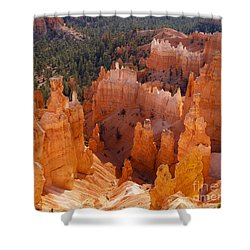 Thor's Hammer At Bryce Canyon In Utah Shower Curtain by Alex Cassels