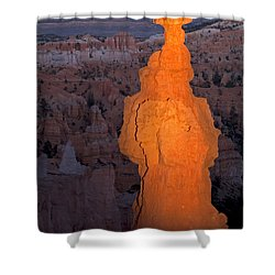 Thors Hammer Sunset Point Bryce Canyon National Park Shower Curtain