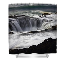 Thors Well Shower Curtain by Bob Christopher