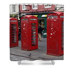 Those Red Telephone Booths Shower Curtain