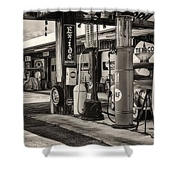 Those Were The Days Shower Curtain by Heather Applegate