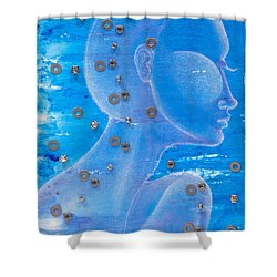 Thought Shower Curtain by Sheridan Furrer
