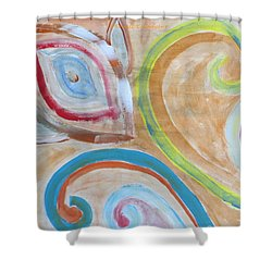Shower Curtain featuring the painting Thought by Sonali Gangane