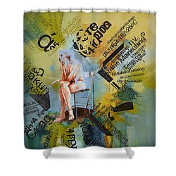 Thoughts Shower Curtain by Corporate Art Task Force