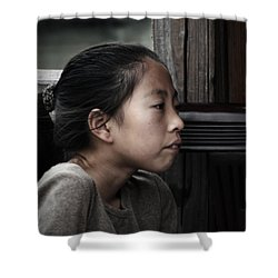 Shower Curtain featuring the photograph Thoughts by Lucinda Walter