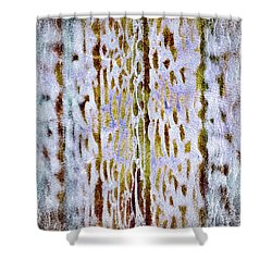 Shower Curtain featuring the digital art Thoughts Of Afar by Darla Wood