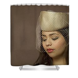 Thoughts Of Mystery Shower Curtain by Evelina Kremsdorf