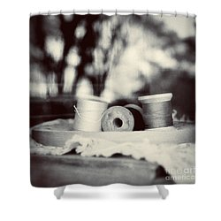 Threads Of Life  Shower Curtain by Trish Mistric