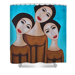 Three Angels Shower Curtain