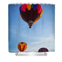 Three Balloons Shower Curtain by Inge Johnsson