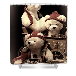 Three Bears Creative Shower Curtain