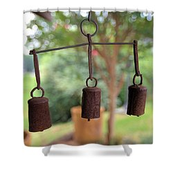 Three Bells - Square Shower Curtain