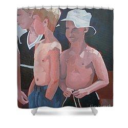Three Boys Shower Curtain