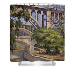 Three Bridges Shower Curtain
