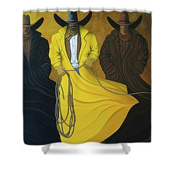 Three Brothers Shower Curtain by Lance Headlee