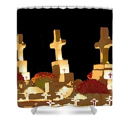 Shower Curtain featuring the photograph Louisiana Artistic Cemetery by Luana K Perez