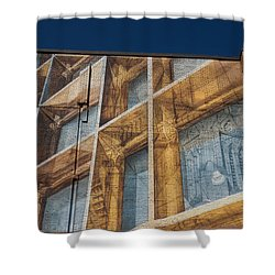 Three Dimensional Optical Illusions - Trompe L'oeil On A Brick Wall Shower Curtain