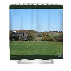 Three Farms In Autumn Shower Curtain