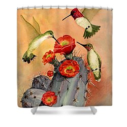 Three For Breakfast Shower Curtain