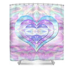 Three Hearts As One Shower Curtain