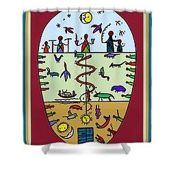 Shower Curtain featuring the digital art Three Layers Of Life by Vagabond Folk Art - Virginia Vivier