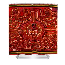Shower Curtain featuring the digital art Three Layers Of The World by Vagabond Folk Art - Virginia Vivier