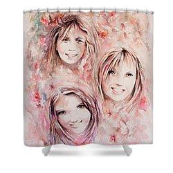 Three Miracles Shower Curtain by Rachel Christine Nowicki