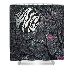 Three Moons Series - Zebra Moon Shower Curtain by Oddball Art Co by Lizzy Love
