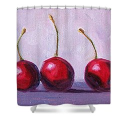 Three Shower Curtain by Nancy Merkle