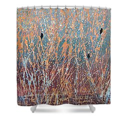 Three Of A Kind Shower Curtain by Suzanne Theis