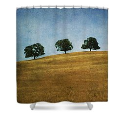 Three On A Hill Shower Curtain