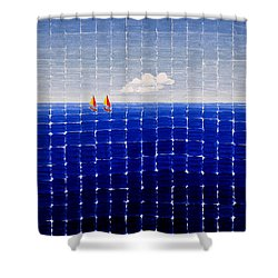 Three Sail Boats #2 Shower Curtain
